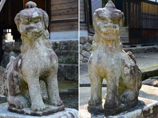 信光明寺の狛犬