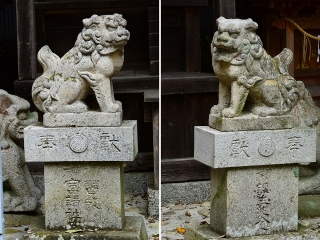 村積神社(奥宮)の狛犬