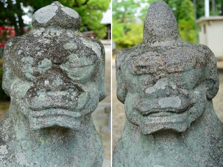 鴨田天満宮の狛犬