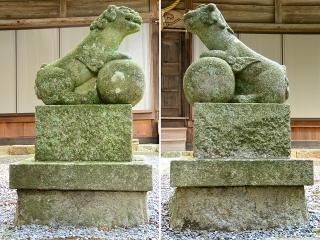 八劔神社の狛犬
