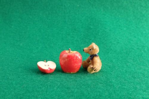 4月10日ミニチュアベアとりんご