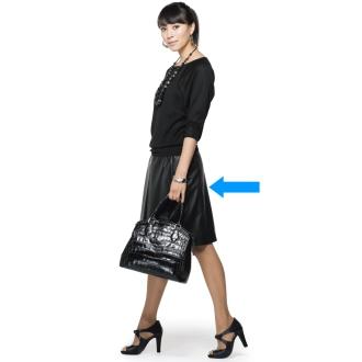 ラムレザーボックスプリーツスカート