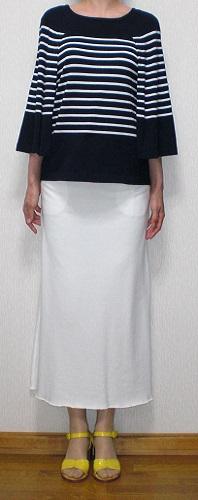 白ジャージスカート1