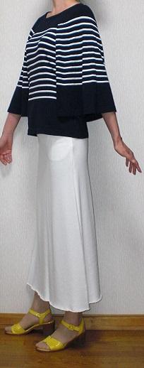 白ジャージスカート4