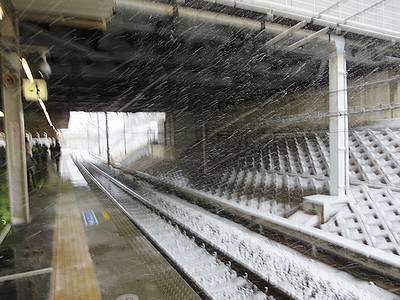 2/14通勤時の雪
