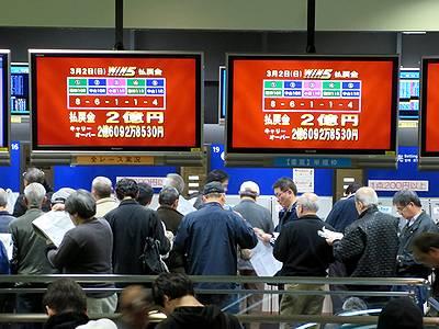WIN5払戻金2億円を示すモニター