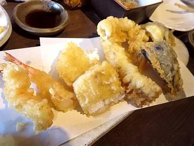 天ぷら4種盛
