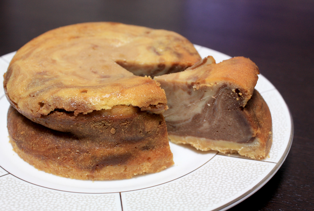 マーブルチーズケーキ