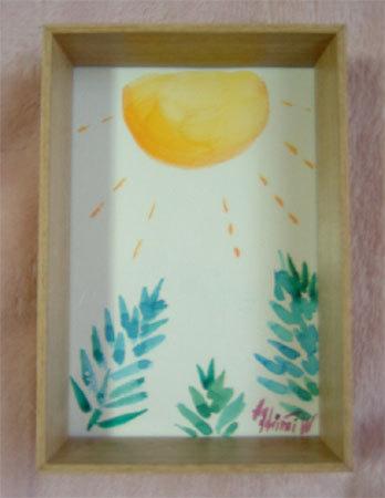 ほっと癒される光の絵画 感謝と祈りの詩と薔薇とアートコレクション-自然の声 水彩画
