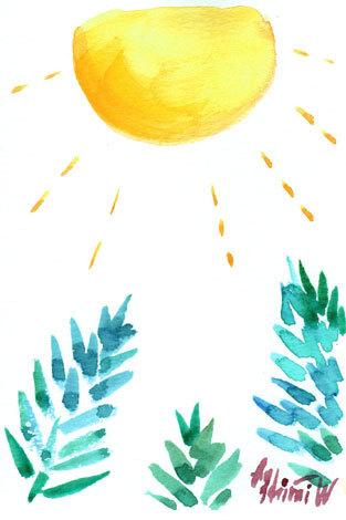 ほっと癒される光の絵画 感謝と祈りの詩と薔薇とアートコレクション-坂本龍一トリオツアーを聴いて描く水彩画