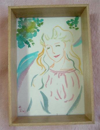 ほっと癒される光の絵画 感謝と祈りの詩と薔薇とアートコレクション-微笑み-1 水彩画