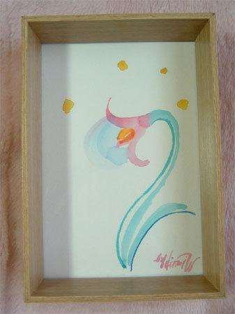 ほっと癒される光の絵画 感謝と祈りの詩と薔薇とアートコレクション-フラワーライト 水彩画