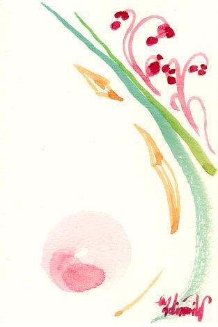 ほっと癒される光の絵画 感謝と祈りの詩と薔薇とアートコレクション-坂本教授のライブを聴いて描く水彩画