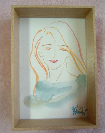 ほっと癒される光の絵画 感謝と祈りの詩と薔薇とアートコレクション-微笑みー2 水彩画