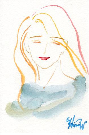ほっと癒される光の絵画 感謝と祈りの詩と薔薇とアートコレクション-坂本教授の曲を聴いて描く水彩画