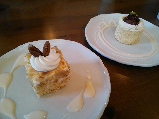 バタークリームのケーキ