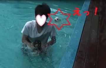 かりん溺れる