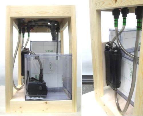 濾過槽と殺菌灯です