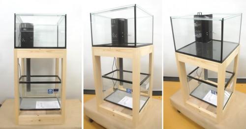 450×450×350ガラス水槽です