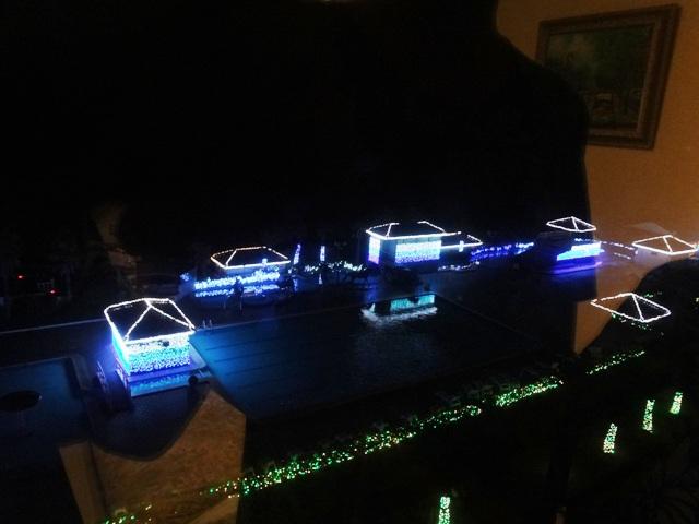 龍宮城スパホテル三日月のイルミネーション