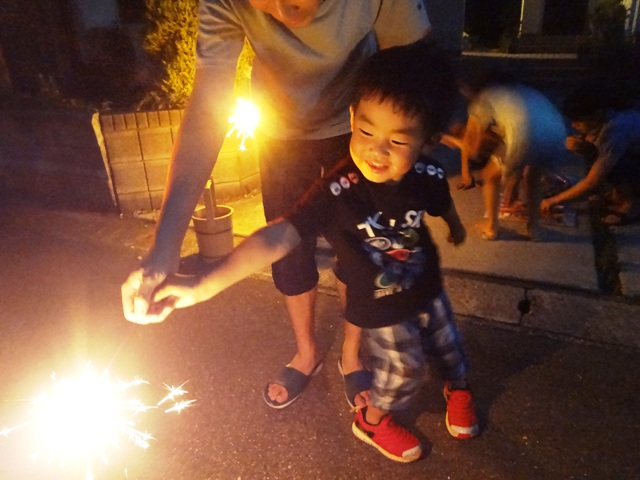 お盆の花火