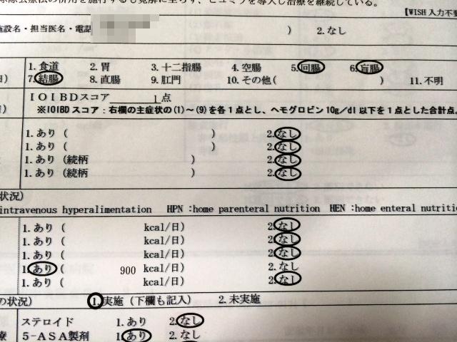 臨床調査個人票