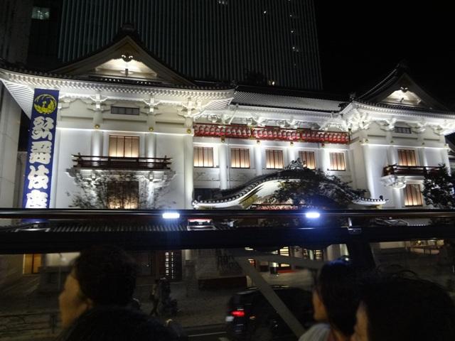 歌舞伎座の夜景