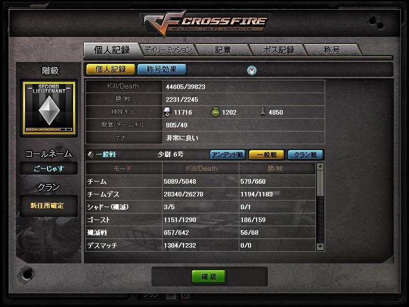 CrossFireプロフ