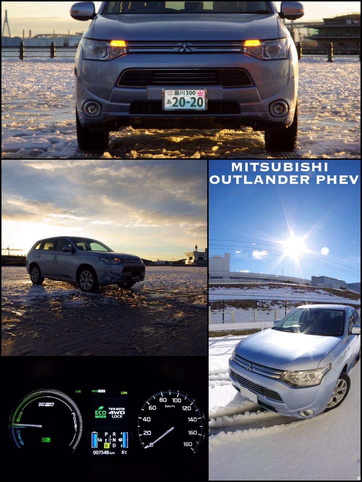 Mitsubishi outlander phev on snow