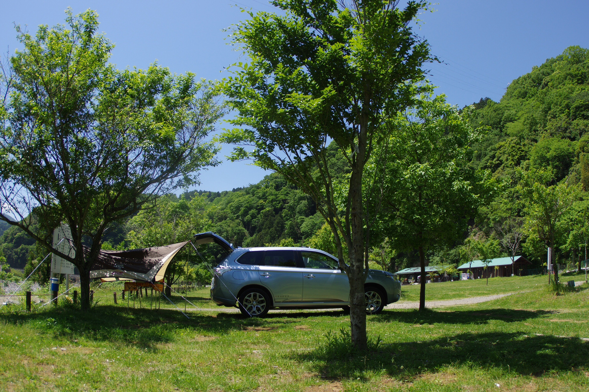 Outlander phev at camp