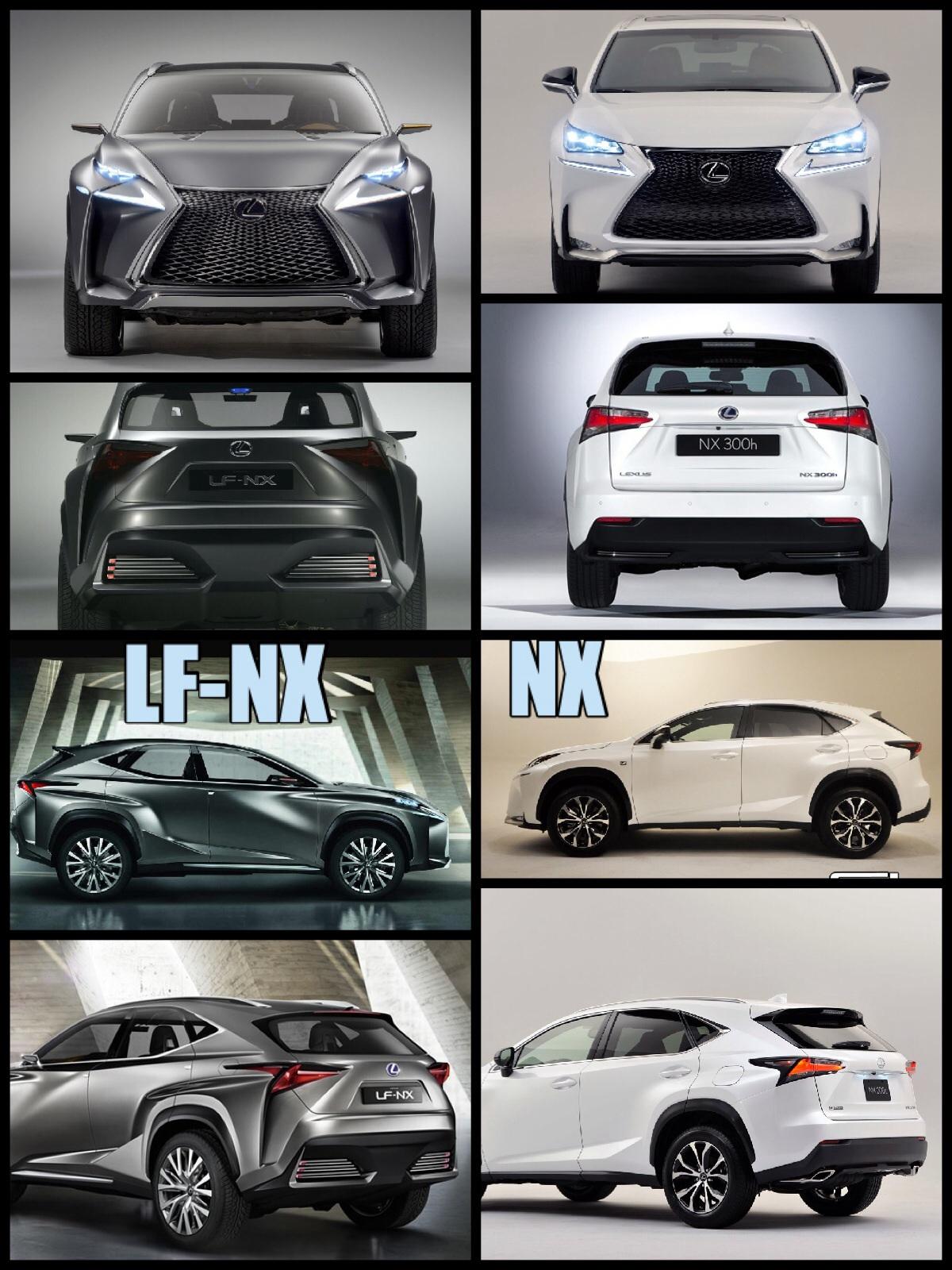 レクサスNX レクサスLF-NX比較