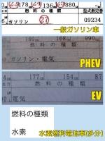 モーター搭載車の違い 車検証