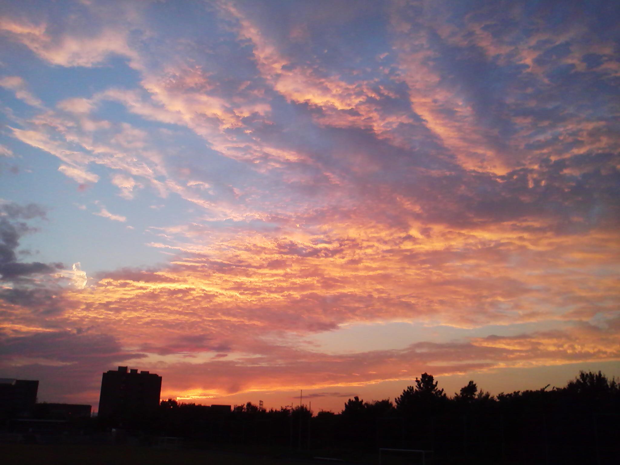 武蔵野の夕焼け