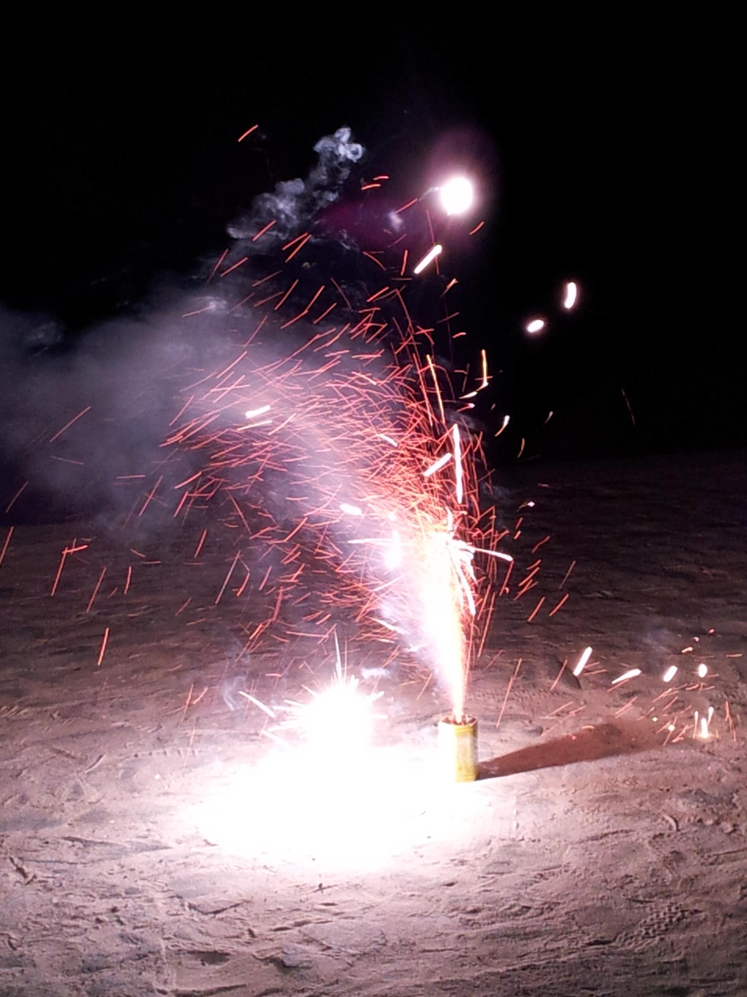 合宿の花火