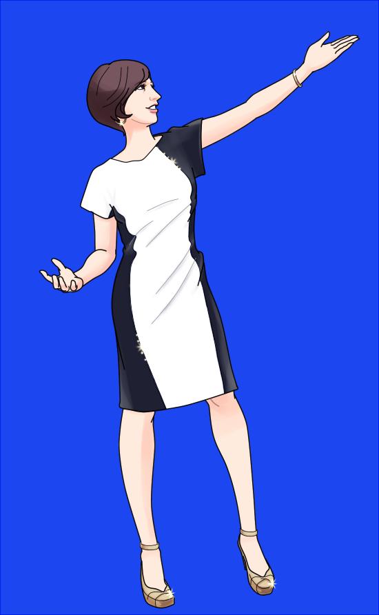 滝川クリステル白黒服_140411