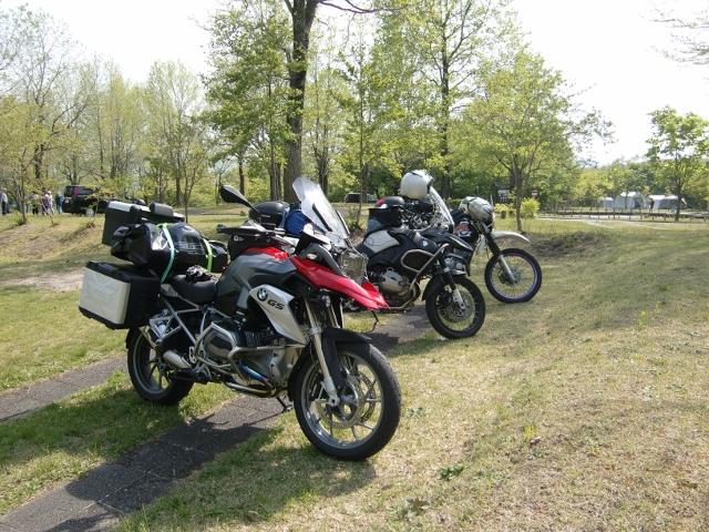 キャンプ場のバイク