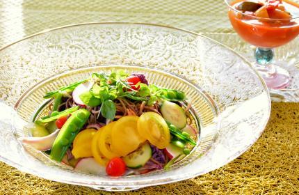 蕎麦サラダ&tomatosoup