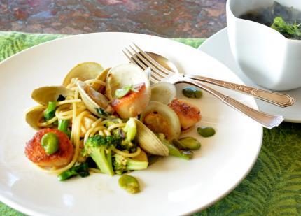 海鮮パスタ&和布soup