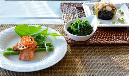 菜園の青菜ナムル