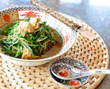 ニラ&モヤシ蕎麦