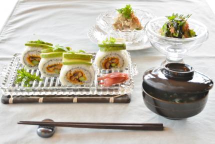 巻き寿司で・・・