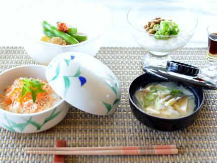 和食で・・・