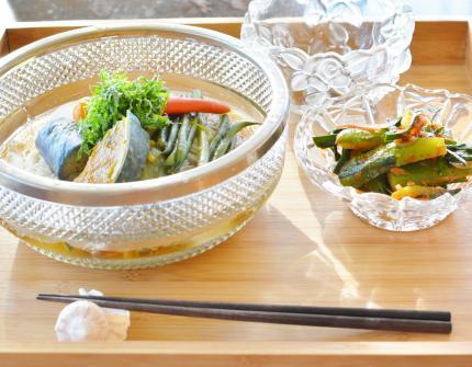 野菜素揚げ素麺