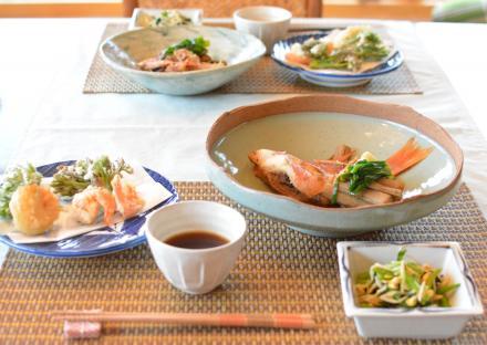 天麩羅と煮魚