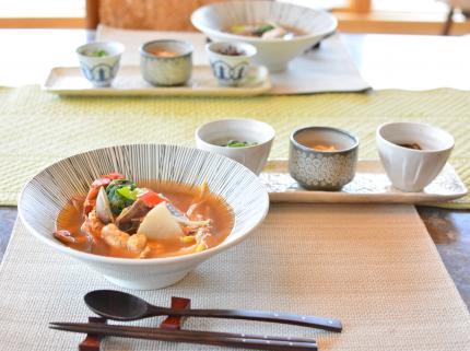 海鮮チゲで夕飯