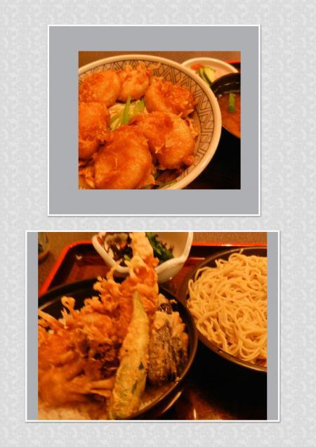 ホタテ丼&天麩羅蕎麦