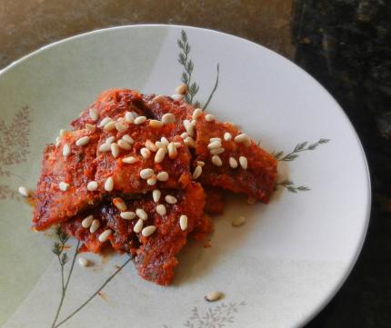 干鱈のコチュジャン炒め煮