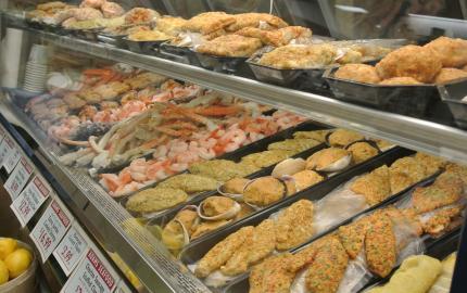 marketの魚売り場