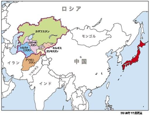 中アジア地図