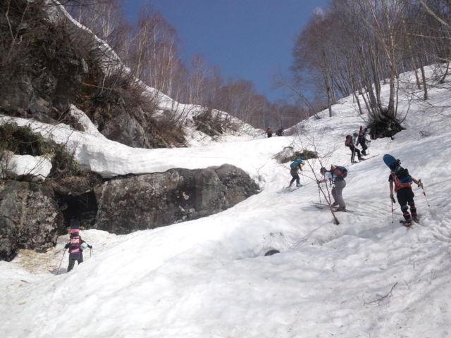 140427三田原山涸沢スキー2